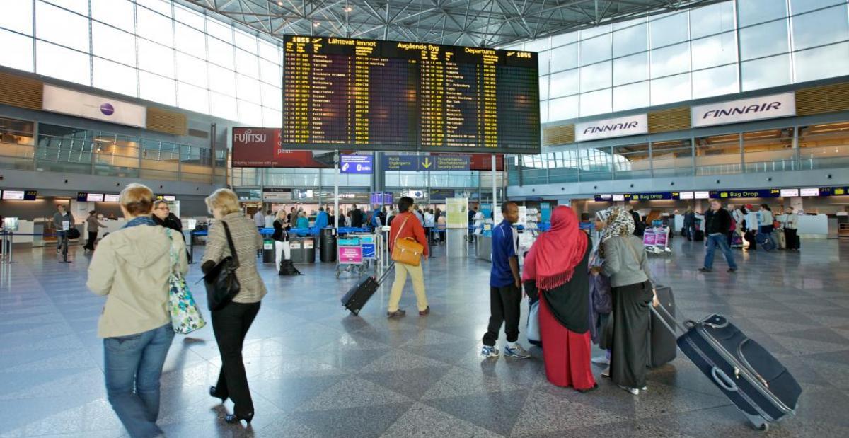Из Аэропорта Хельсинки В