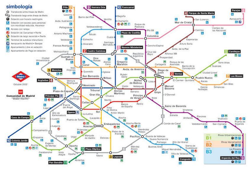 Испанская схема метро